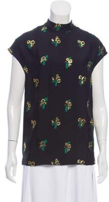 Stella McCartney Jacquard Cap Sleeve Top Black Jacquard Cap Sleeve Top