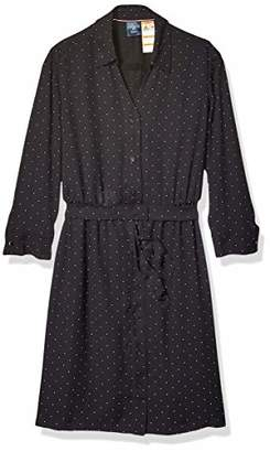 Tommy Hilfiger Women's Adaptive Tie Waist Shirtdress with Hidden Magnetic Closure