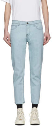 Enfants Riches Deprimes Blue Embroidered Jeans