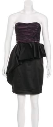 Alice + Olivia Strapless Ruffle Dress