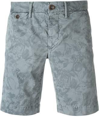 Incotex floral print chino shorts