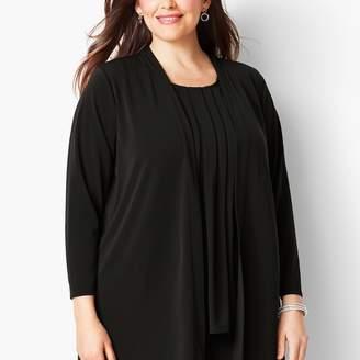 Talbots Plus Size Knit Jersey Open Cardigan