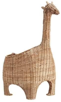 Pottery Barn Kids Giraffe Shaped Wicker Basket natural