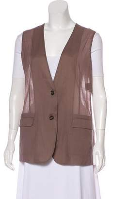 Loro Piana Lightweight Collarless Vest