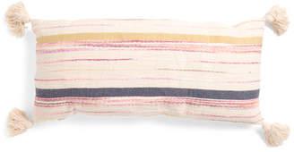 14x30 Textured Stripe Tassel Pillow