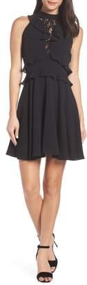 BB Dakota Ruffle Crepe Dress