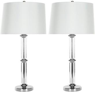 Safavieh 2-piece Vendome Crystal Table Lamp Set