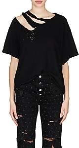 Amiri Women's Slash Cotton T-Shirt - Black