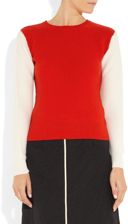 J.W.Anderson Two-tone cashmere sweater