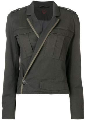 A.F.Vandevorst wrap fitted jacket