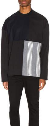 Jil Sander Long Sleeve Panels Tee in Black | FWRD