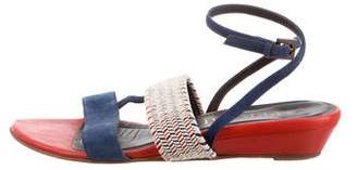 Aperlaï Woven Wedge Sandals