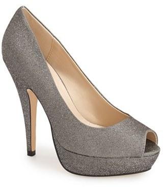 Women's Menbur 'Sotogordo' Glitter Peep Toe Platform Pump $114.95 thestylecure.com