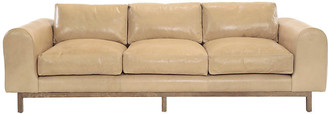 """Connors 100"""" Sofa - Tan Leather - Community"""
