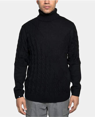 Sean John Men's Cable Knit Turtleneck Sweater