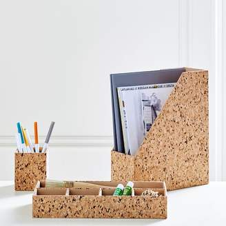 Pottery Barn Teen Cork Desk Accessories, Set Of 3