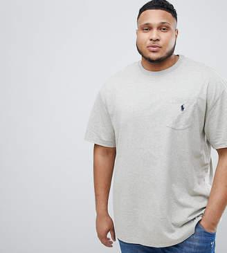 Polo Ralph Lauren Big & Tall T-Shirt Player Logo In Grey Marl