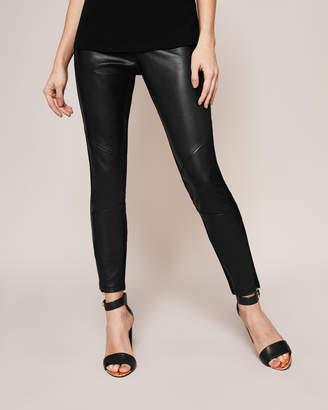Ted Baker MINNEY Paneled leather front leggings