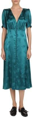 The Kooples Floral Jacquard Midi Dress