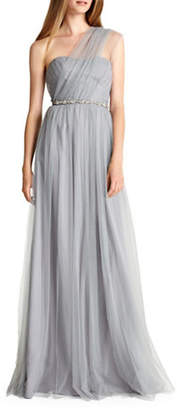 Monique Lhuillier BRIDESMAIDS Convertible Strapless Tulle Bridesmaid Dress