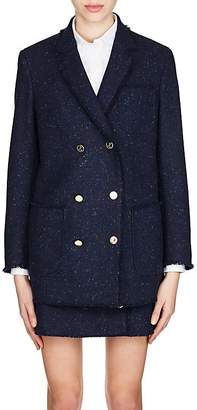 Thom Browne Women's Frayed Wool Tweed Jacket