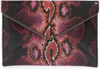 Rebecca Minkoff Leo Snake Embossed Leather Clutch