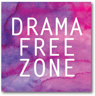 Courtside Market Wall Decor Drama Free Zone Gallery-Wrapped Canvas Wall Art