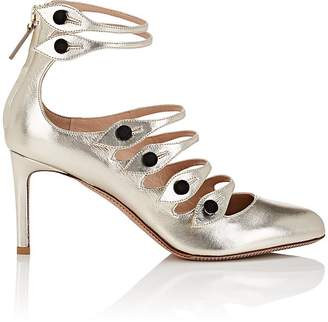 Valentino Women's Multi-Strap Metallic Leather Pumps