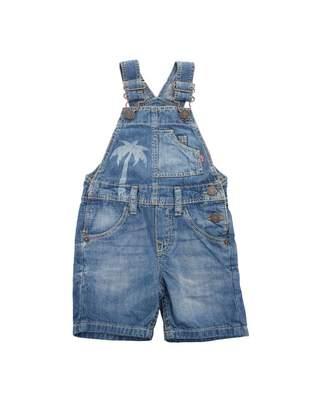 Levi's Kids Palm Denim Dungaree Shorts
