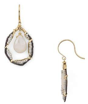 Dana Kellin Floating Faceted Stone Drop Earrings
