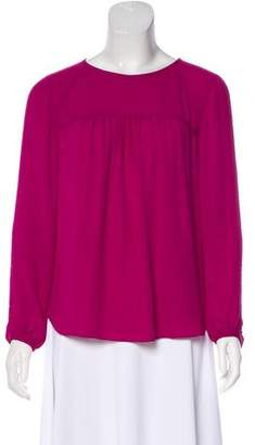 Rebecca Taylor Gathered Long Sleeve Blouse