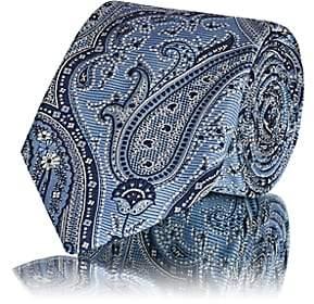 Barneys New York Men's Paisley Silk Jacquard Necktie - Lt. Blue