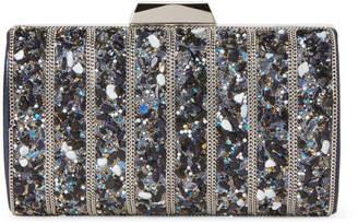 Jessica McClintock Navy Aspen Embellished Convertible Clutch