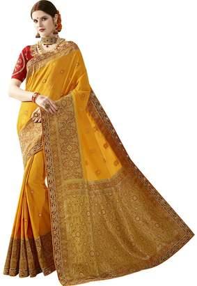 Maahir Garments Indian Ethnicwear Wedding Banarasi Art Katan Silk Coloured Fancy Saree