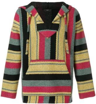 Alanui stripe knit hoodie