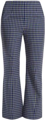 MARNI Checked kick-flared wool trousers