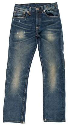 R 13 Mid-Rise Distressed Jeans