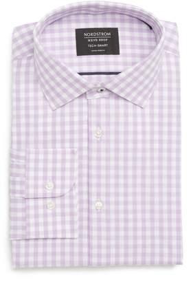 Nordstrom Tech-Smart Classic Fit Stretch Check Dress Shirt