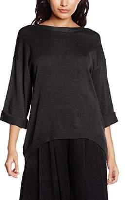MinkPink Women's Start Over V Neck Knit Plain 3/4 Sleeve Tops,(Manufacturer Size:Medium)