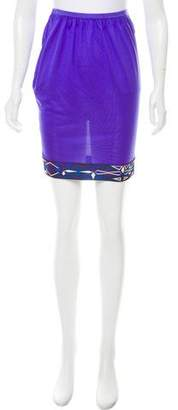 Emilio Pucci Silk Knee-Length Skirt