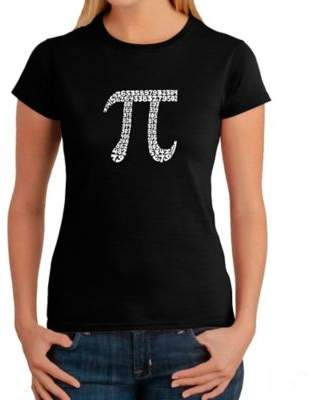Women's Large Word Art Pi T-Shirt in Black $19.99 thestylecure.com