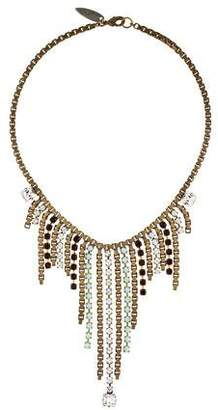 Fallon Crystal Fringe Collar Necklace