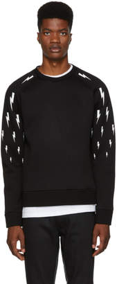 Neil Barrett Black Multi Lightning Sweatshirt