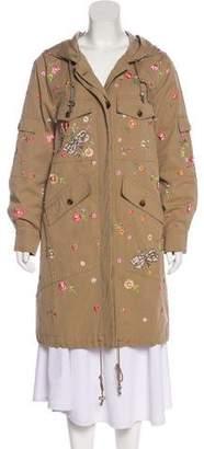 Needle & Thread Embellished Hooded Coat