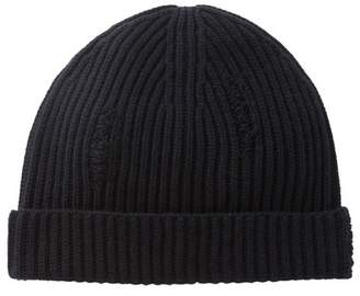 Vince Distressed Ribbed Beanie