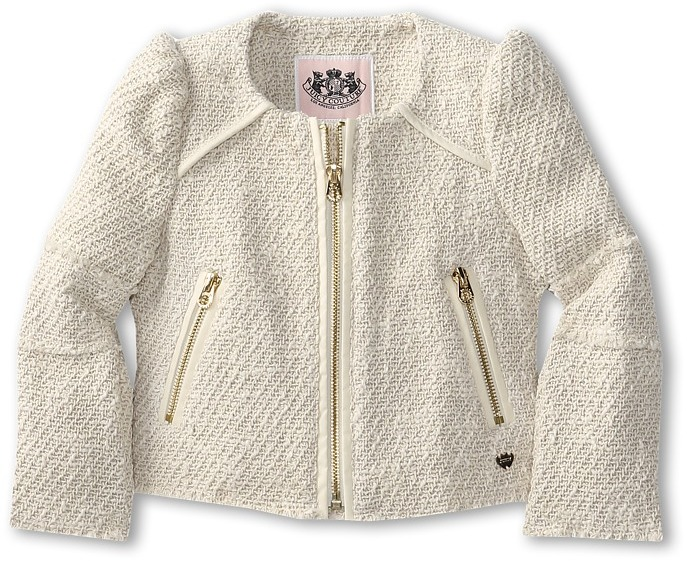 Juicy Couture Classic Textured Jacket (Toddler/Little Kids/Big Kids) (Pale Bamboo) - Apparel