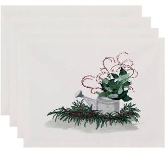 Holiday Essence Gardener's Holiday Delight Geometric Print Placemat