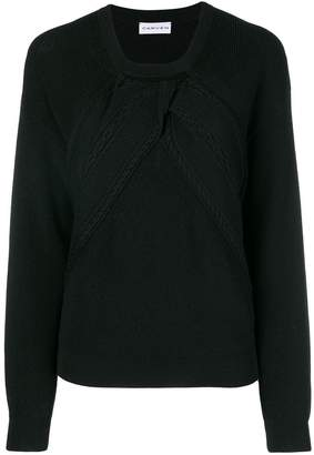 Carven draped cable sweater
