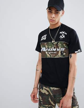 A Bathing Ape AAPE BY AAPE By racing panel t-shirt in black