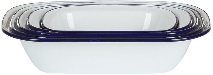 Falcon Pie Set - Original White with Blue rim